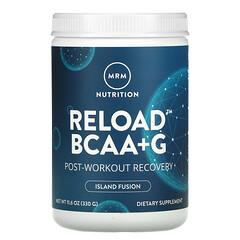 MRM, RELOAD 支鏈氨基酸+G 修復補充劑,鍛煉後修復,海島混合風味,11.6 盎司(330 克)