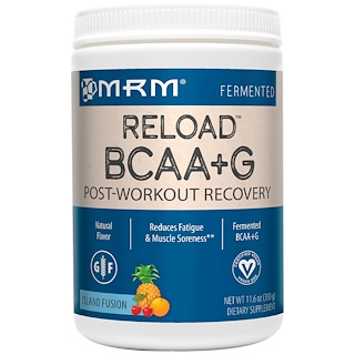 MRM, BCAA+G Reload, Post-Workout Recovery, Island Fusion, 11.6 oz (330 g)
