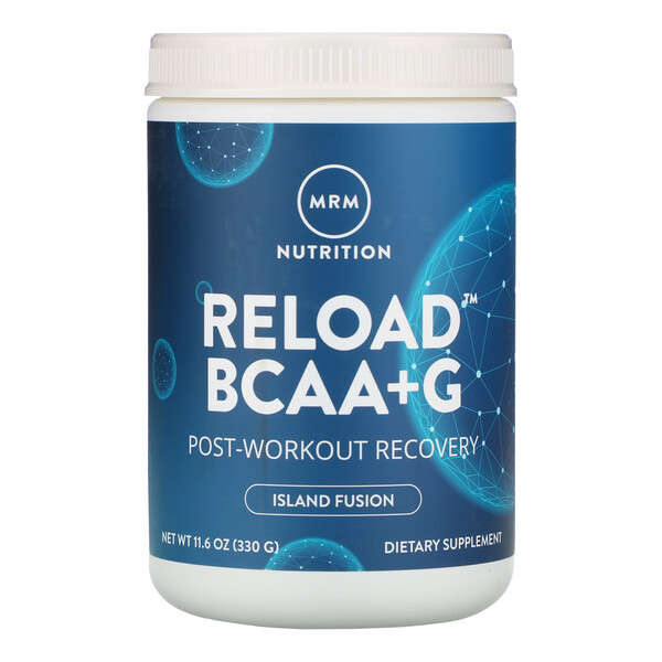 RELOAD BCAA+G, Post-Workout Recovery, Island Fusion, 11.6 oz (330 g)