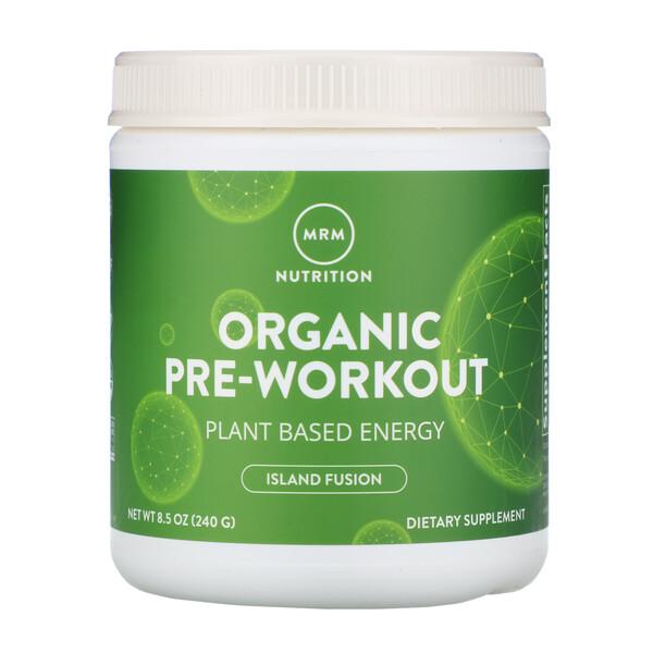 Suplemento pre-entreno orgánico, Fusión isleña, 8.5 oz (240 g)