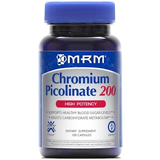 MRM, Chromium Picolinate 200, High Potency, 100 Capsules
