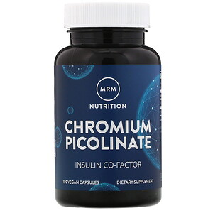 МРМ, Nutrition, Chromium Picolinate, 200 mcg, 100 Vegan Capsules отзывы покупателей