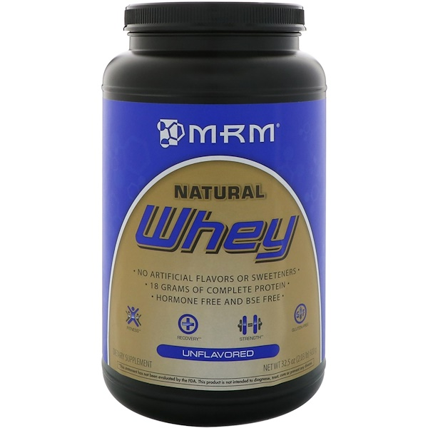 MRM, Natural Whey, Unflavored, 32.5 oz (920 g)