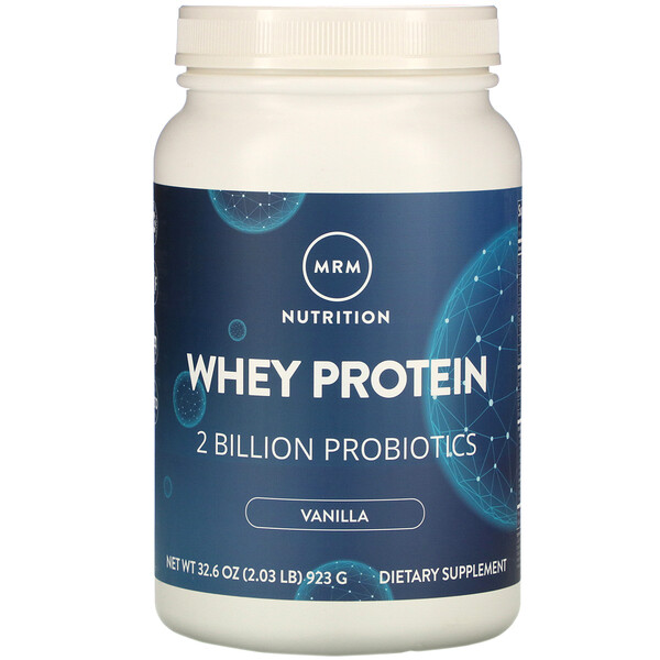Whey Protein, 2 Billion Probiotics, Vanilla, 2.03 lb (923 g)