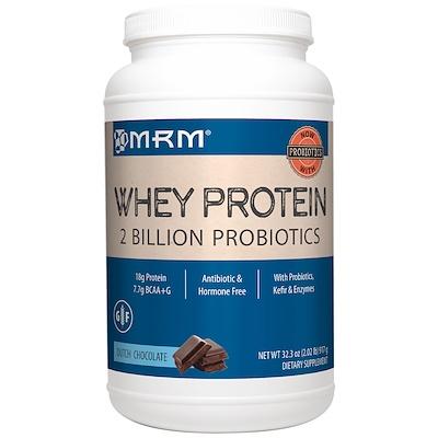 Купить Натуральный сывороточный белок, 2 млрд пробиотиков, голландский шоколад, 917 гр (32.3 oz)