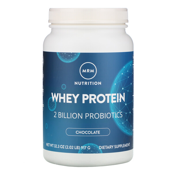 MRM, Whey Protein, 2 Billion Probiotics, Chocolate, 2.02 lbs (917 g)