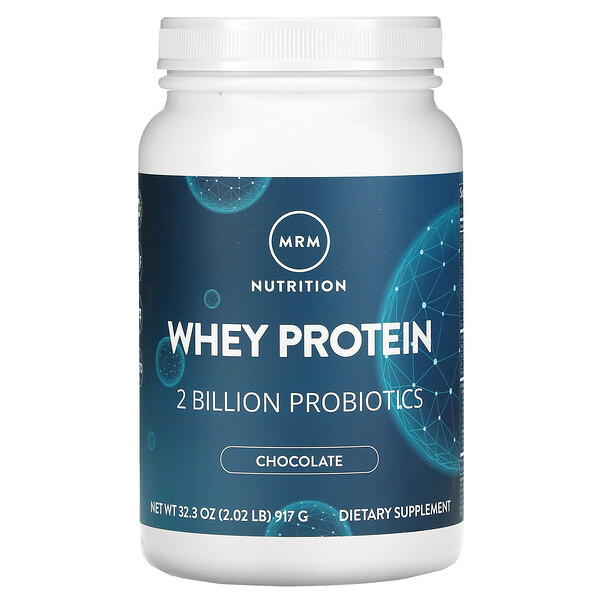 MRM, Whey Protein, Chocolate,  2 Billion Probiotics, 2.02 lbs (917 g)