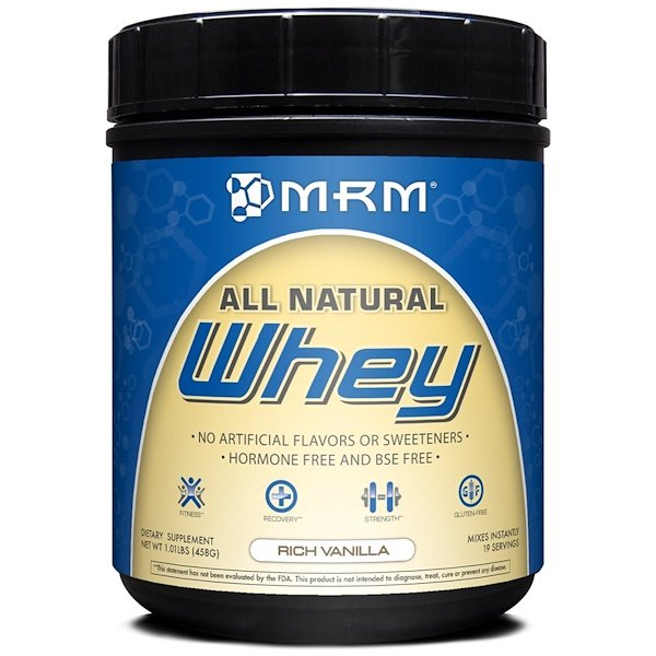MRM, Whey, All Natural, Rich Vanilla, 1.01 lbs (458 g) (Discontinued Item)