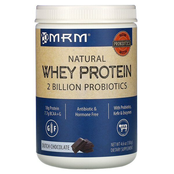 Natural Whey Protein, Dutch Chocolate, 4.6 oz (130 g)