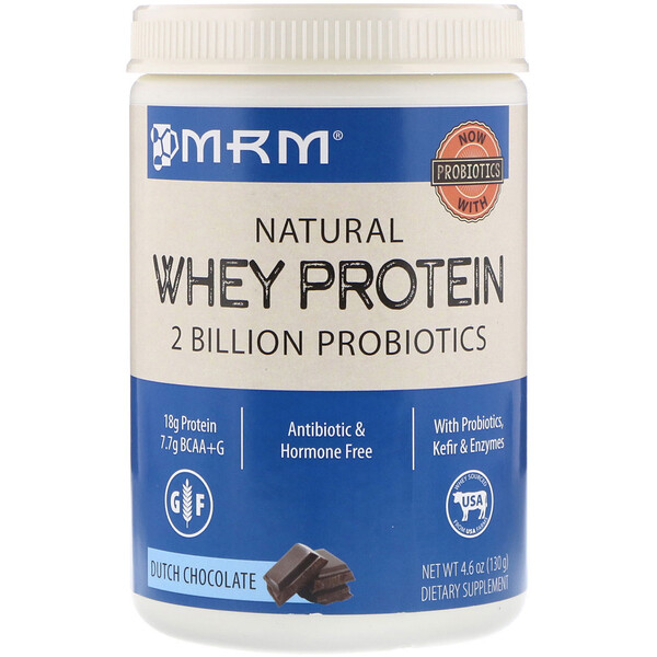 buy protein powder : MRM, Natural Whey Protein, Dutch Chocolate, 4.6 oz (130 g)