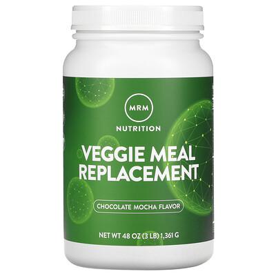 Купить MRM Вегетарианский заменитель пищи, шоколадное мокко, 3 фунта (1361 г)