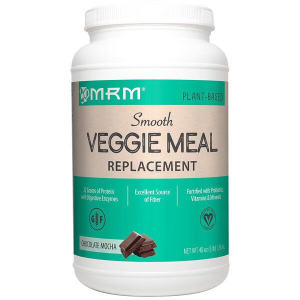 MRM, Smooth Veggie Meal Replacement, Chocolate Mocha, 3 lb (1,361 g) (Discontinued Item)