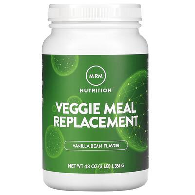 Купить MRM Растительный заменитель питания, ваниль и бобы, 3 фунта (1361 г)