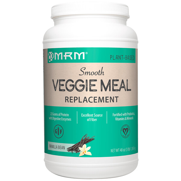 MRM, Smooth Veggie Meal Replacement, Vanilla Bean, 3 lbs (1,361 g) (Discontinued Item)