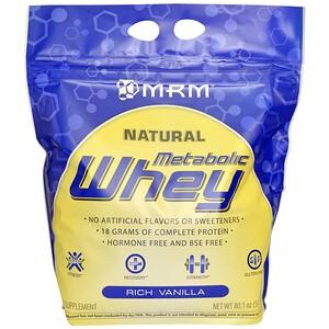 МРМ, Metabolic Whey, Rich Vanilla, 80.1 oz (2270 g) отзывы покупателей
