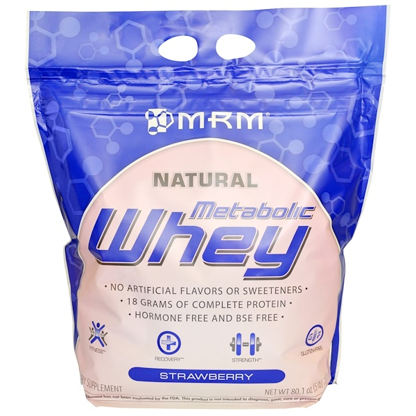 MRM, Metabolic Whey, Strawberry, 80.1 oz (2270 g) (Discontinued Item)