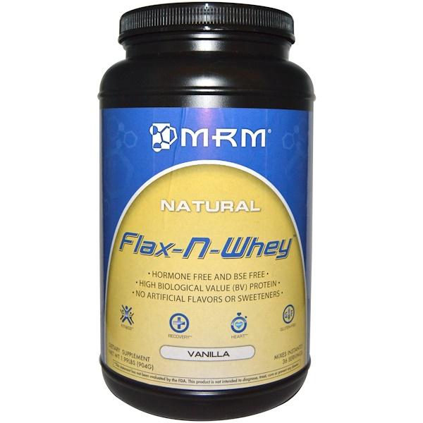 MRM, Flax-N-Whey, сывороточный протеин с семенами льна и вкусом лимона, 904 г  (Discontinued Item)