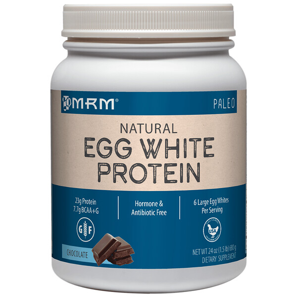 MRM, Natural Egg White Protein, Chocolate, 1.5 lbs (680 g) (Discontinued Item)