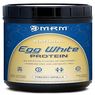 MRM, Natural Egg White Protein, French Vanilla, 24 oz (680 g)
