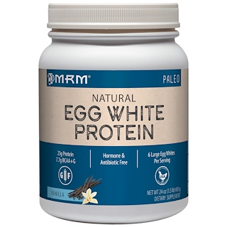 MRM, Natural Egg White Protein, Vanilla, 24 oz (680 g)