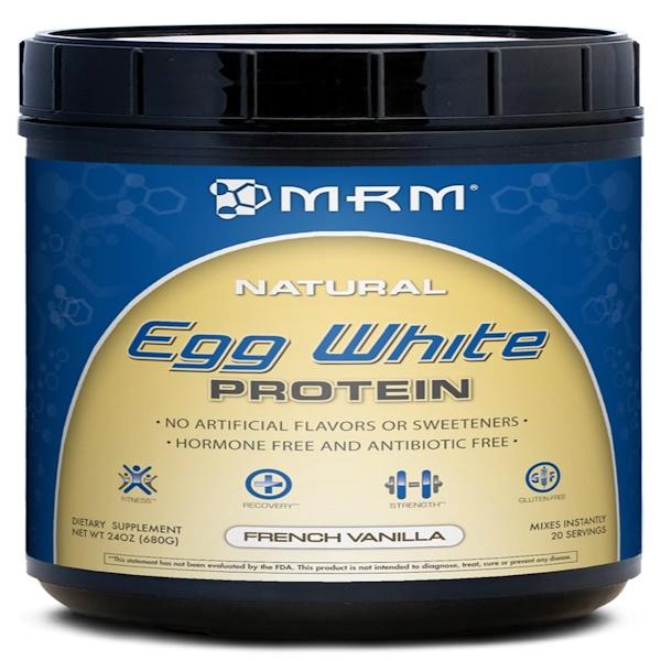 MRM, Natural Egg White Protein, French Vanilla, 24 oz (680 g)