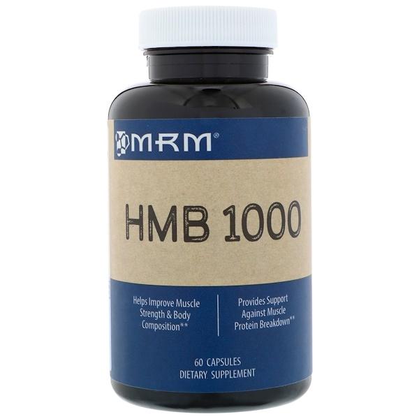 MRM, HMB 1000, 60 Cápsulas