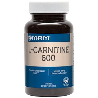 MRM, L-Carnitine 500, 60 Tablets