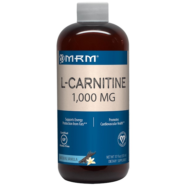 MRM, L-Carnitine 1000, Natural Vanilla Flavor, 17 fl oz (503 ml) (Discontinued Item)