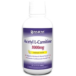 MRM, Acetyl L-Carnitine, Lemonade Flavor, 1000 mg, 16 fl oz (480 ml)