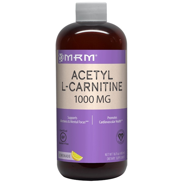 MRM, Acetyl L-Carnitine, Lemonade, 1,000 mg, 16 fl oz (480 ml)