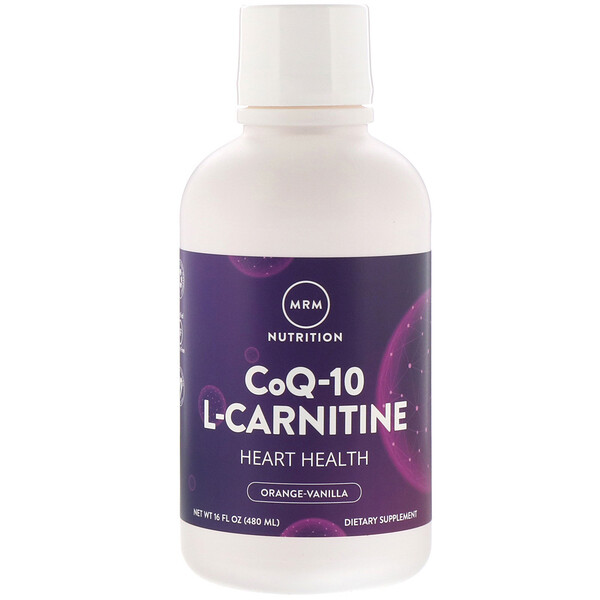 CoQ-10 L-Carnitine, Orange-Vanilla, 16 fl oz (480 ml)