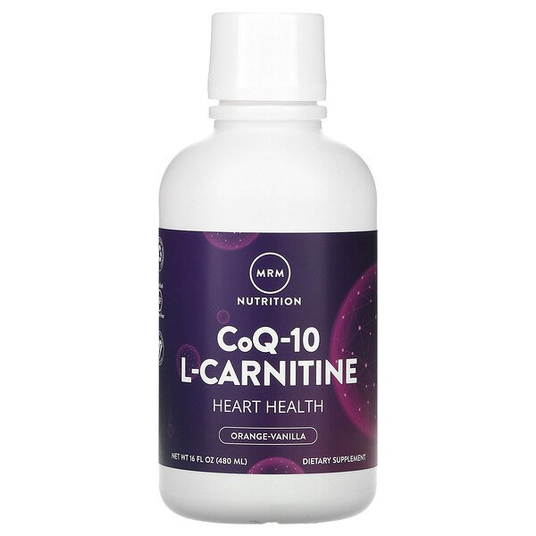 CoQ-10 L-Carnitine Liquid, Orange-Vanilla, 16 fl oz (480 ml)