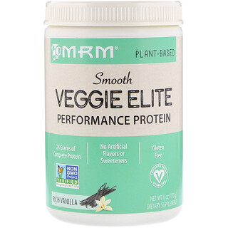MRM, Smooth Veggie Elite Performance Protein, Rich Vanilla, 6 oz (170 g)