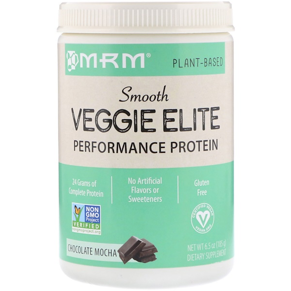 MRM, Smooth Veggie Elite Performance Protein, Chocolate Mocha, 6.5 oz (185 g)