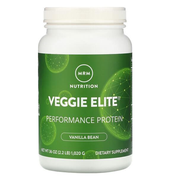 Veggie Elite, Performance Protein, Vanilla Bean, 2.2 lb (1,020 g)