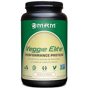 MRM, Veggie Elite, белок для высокой производительности, ванильные бобы, 2,2 фунта (1020 г)