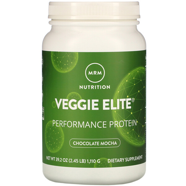 Veggie Elite, Performance Protein, Chocolate Mocha, 2.45 lb (1,110 g)
