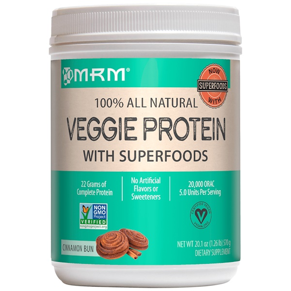 MRM, 100% All Natural Veggie Protein with Superfoods, 20.1 oz (570 g) (Discontinued Item)