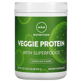 MRM, Veggie Protein with Superfoods, Chocolate, 1.26 lb (570 g)