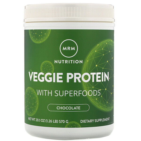Nutrition, Veggie Protein with Superfoods, Chocolate, 20.1 oz (570 g)