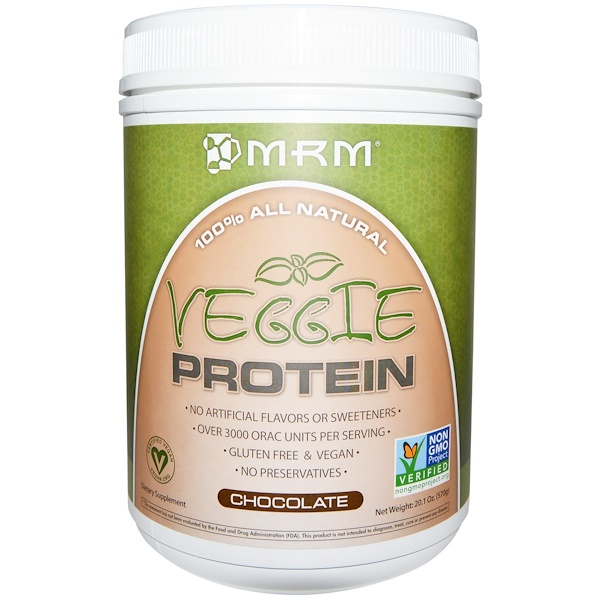MRM, Veggie Protein, Chocolate, 20.1 oz (570 g)