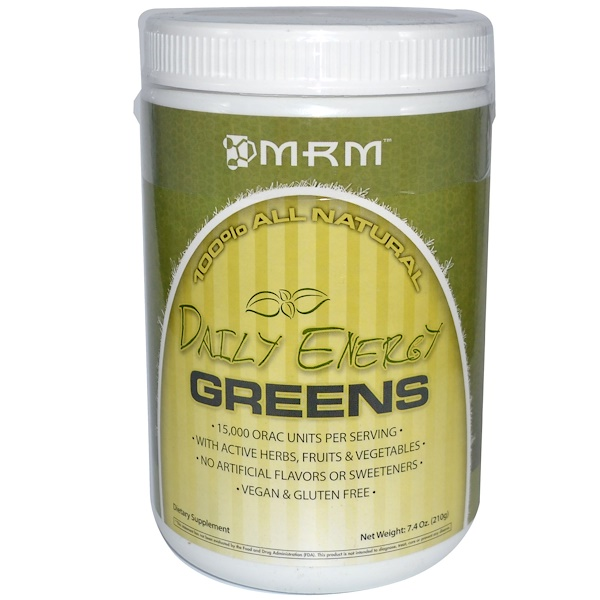 MRM, Daily Energy Greens, 7.4 oz (210 g) (Discontinued Item)