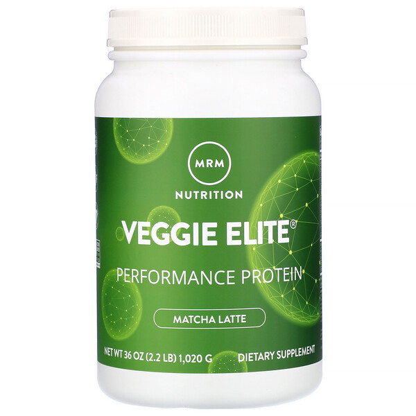 VeggieElitePerformance Protein, Matcha Latte, 2.2 lb (1,020 g)
