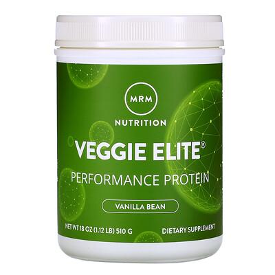 MRM Smooth Veggie Elite Performance Protein, Vanilla Bean, 18 oz (510 g)