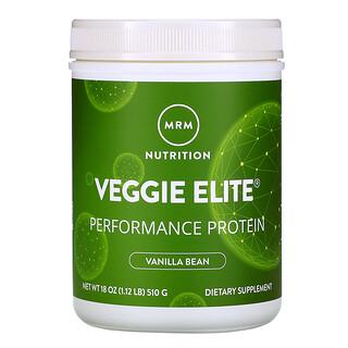 MRM, Veggie Elite Performance Protein, Vanilla Bean, 1.12 lb (510 g)
