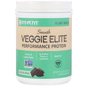 MRM, 高性能絲滑素食蛋白質粉,巧克力抹茶味,19.6 盎司(555 克)