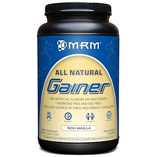 MRM, All Natural, Gainer, Rich Vanilla, 3.3 lbs (1512 g)