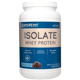 MRM, Natural Isolate Whey Protein, Chocolate Malt, 2.03 lb (922 g)