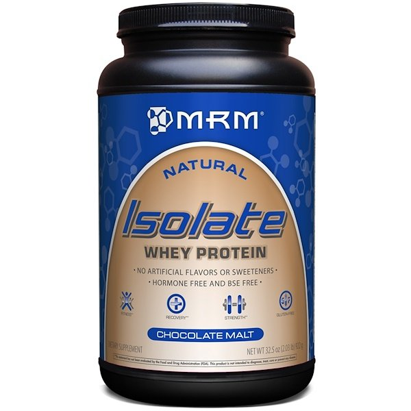 MRM, Natural Isolate Whey Protein, Chocolate Malt, 32.5 oz (922 g)