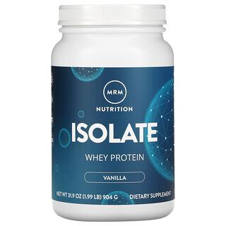 MRM, Isolate Whey Protein, Vanilla, 1.99 lb (904 g)